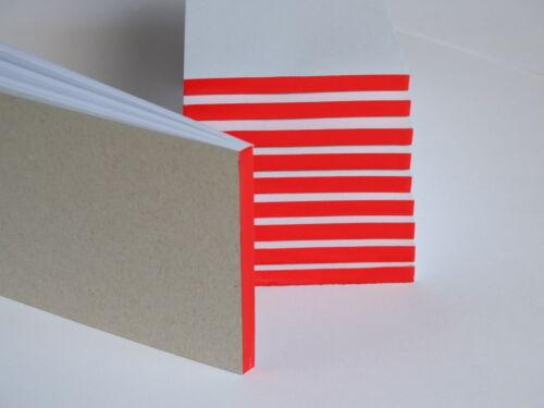100 Stück Kellnerblock Notizblock 7 x 14 cm rot verleimt Kellnerblöcke