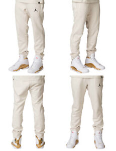 34de8bbed70f Nike Air Jordan JSW Wings Fleece Pants Men s 860198-102 Beige Tan ...