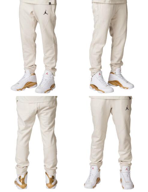 Nike Air Jordan JSW Wings Fleece Pants Men's 860198-102 Beige Tan Black Jumpman
