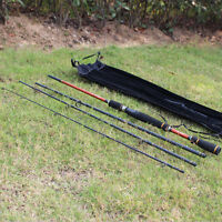 Saltwater Fishing Rod Spinning Telescopic Fishing Pole 4 Sections Fishing Tackle
