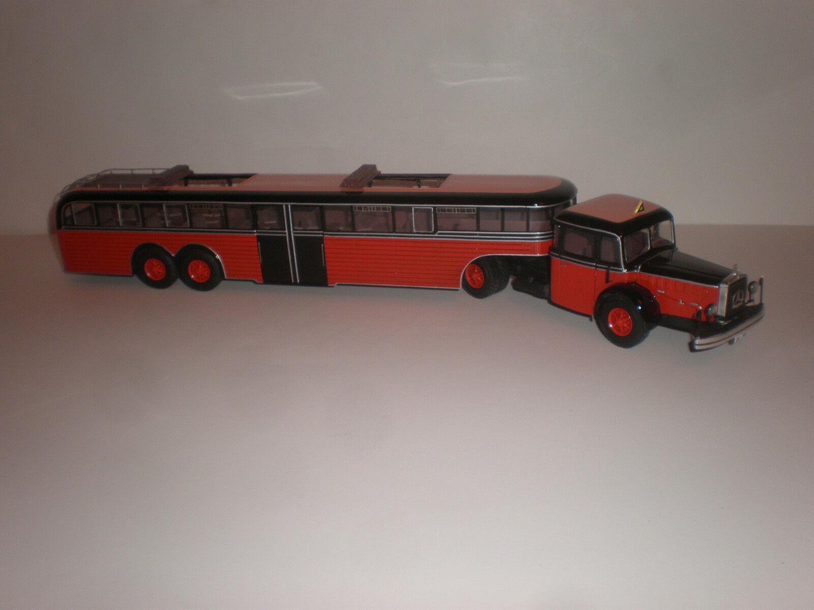 1 43 Camión Mercedes Benz L.6500 Bus ómnibus Setra Silla-Zug 1939 hecho a mano