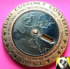 2003 Isle Of Man 60p Pence Euro Currency Convertor Bi Metallic Coin Crown Size