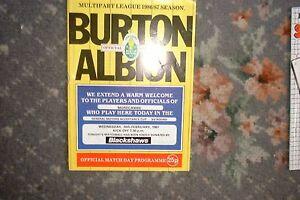Programme-Burton-Albion-v-Morecambe-1987