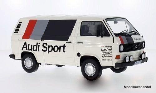 Volkswagen t3 encadré Audi Sport 1980 (VW (VW (VW camionnette) 1:18 Premium ClassiXXs >> New <   De Première Qualité  92923f