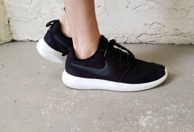 brand new 63fbe 07e4f Nike Womens Roshe Two 2 Run Running Shoes 844931-002 Size 8 Black-Sail White