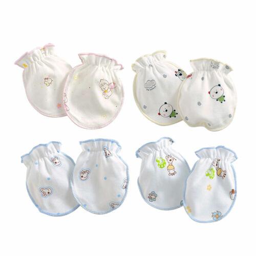 4 Paar Handschuhe für Baby UNISEX Babyfäustlige Kratzfäustinge Gesund Fäustlinge