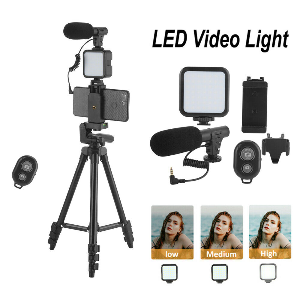 Tripod Fill Light Microphone Phone Holder Set for Live Broadcast Video Shooting