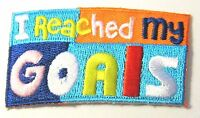 "New Girl Scout Fun Patch ""I Reached My Goals"""