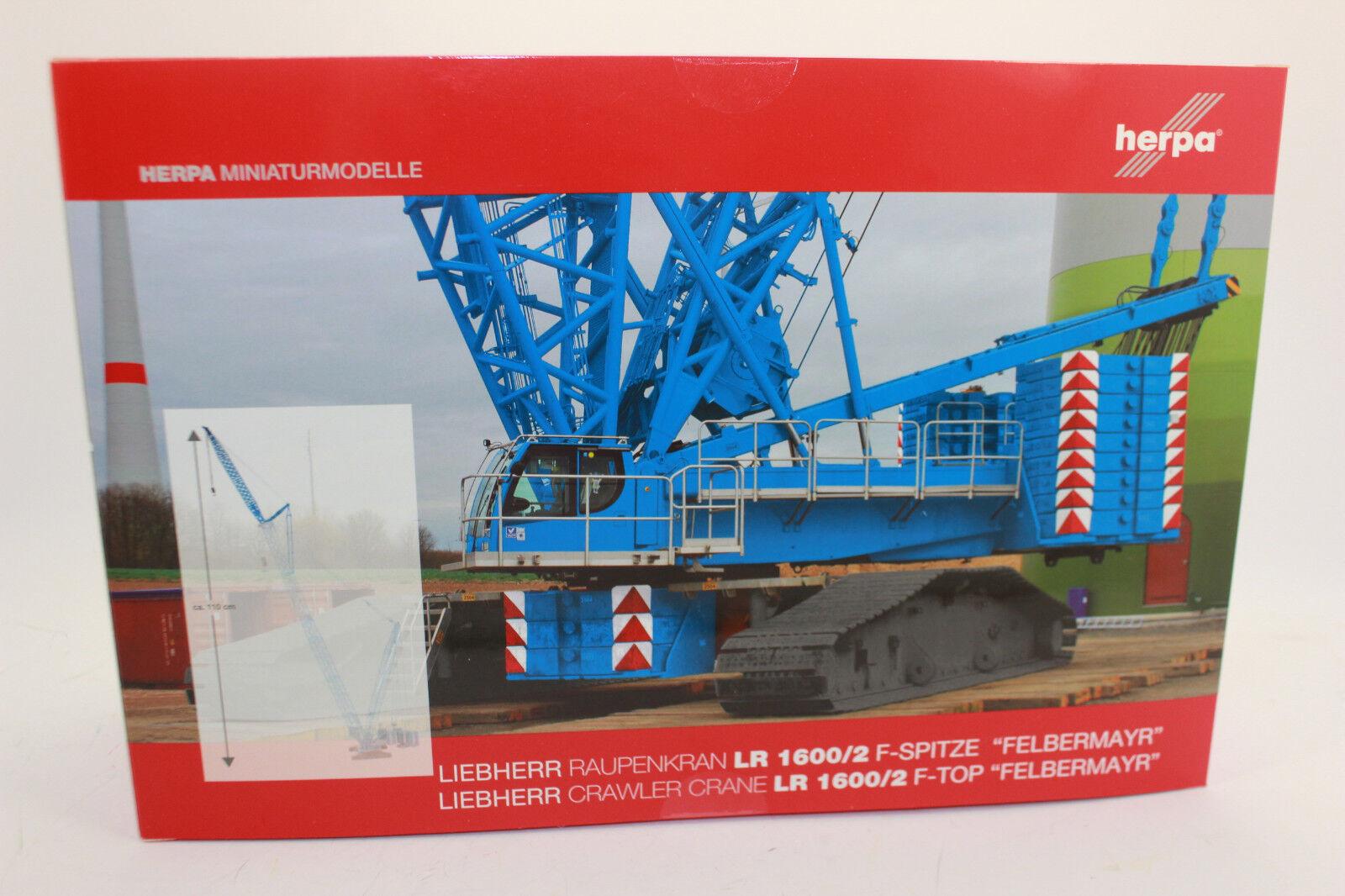 Herpa 308298 f-spitze PER Liebherr Gru cingolata LR 1600/2 Felbermayr 1:87 H0