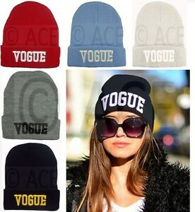 Mens Womens Celebrity Style Knitted Hats Vogue Cap Hip Hop Beanie ... 1f111aec678