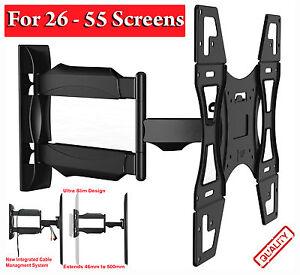 TILT-SWIVEL-TV-WALL-MOUNT-BRACKET-FOR-3D-PLASMA-LCD-LED-37-40-42-46-50-TOSHIBA