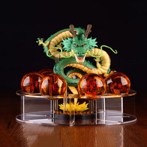 7pcs Dragon Ball Z Set Green Dragon and Dragon Balls Shenron Action Figure Stand