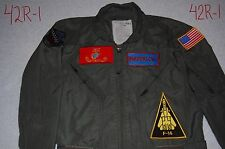 "TOP GUN ""Maverick"" Pilot Costume Adult med/large 42 Navy Air Force Goose Iceman"