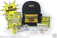 Survival Emergency Backpack Kit 1 Person Unit Radio / Light Food Water First Aid