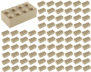 100-NEW-LEGO-2x4-DARK-TAN-Bricks-ID-3001-BULK-Parts-star-wars-Harry-Potter