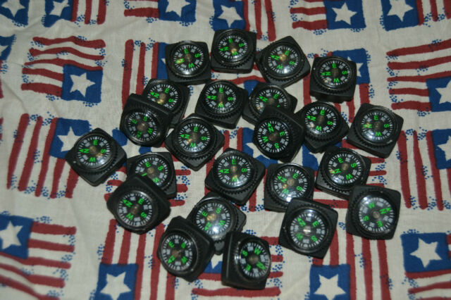 Lots of 3 to 200 Compasses for Paracord Bracelets.  3/4 Square Inch!!! **USA**
