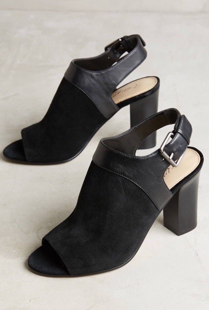 80% di sconto NEW Anthropologie Caleres Fae Peep Toe Shooties Dimensione 9.5 9.5 9.5 nero Open Toe Heels  è scontato