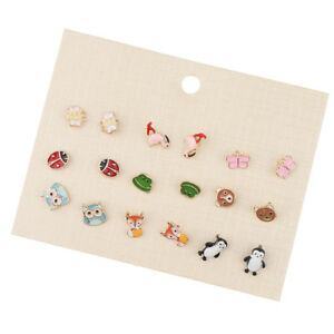481bc651d 9 Pairs Animals Hypoallergenic Stud Earrings Set For Kids Girl Cute ...