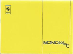 FERRARI-MONDIAL-t-Betriebsanleitung-1989-CABRIOLET-Manuel-Technique-Manual-BA