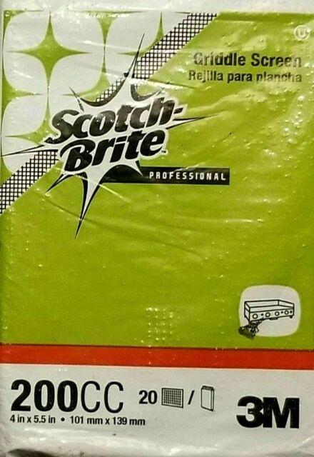 20 PIECE PACK 3M SCOTCH BRITE PROFESSIONAL CLEANING GRIDDLE SCREEN 200 CC L@@K!