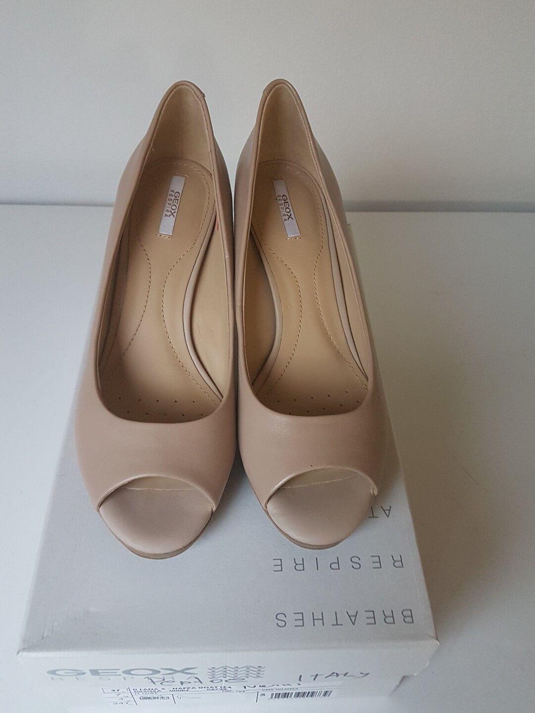 Schuhe Damenschuhe Natur Baige Gr.37 - Peptoe Business - Echt Leder - Geox