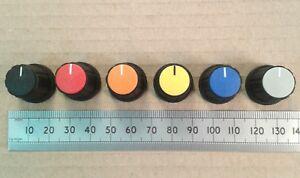 20mm Knob Diameter Encoder Knob Type Black Splined, RS Pro Potentiometer Knob