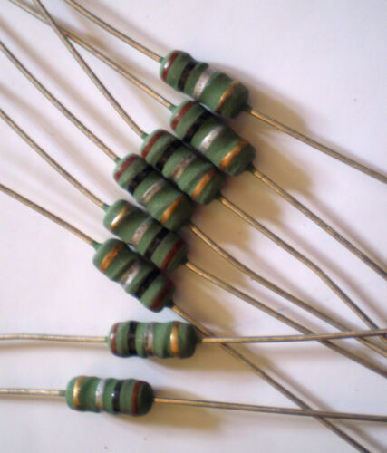 2.5 Watt wirewound resistors  choose from differerent values  5/% pack of 12  Z24