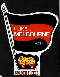 MELBOURNE-amp-GOLDEN-FLEECE-Vinyl-Decal-Sticker-PETROL-afl-vfl-DEMONS