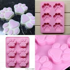 """7.29"""" Dog Cat Paw Print Silicone Bakeware Mold Mould Chocolate Cookie Candy"""