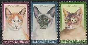 (233)MALAYSIA 1999 CATS SET FRESH MNH