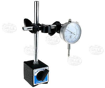 Quality 0-10mm Dial Test Indicator DTI Gauge & Magnetic Base Stand Clock Gauge
