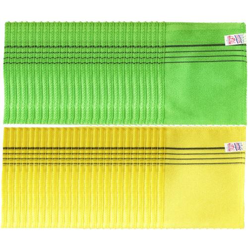 x 50 pcs Italy Exfoliating Body Scrub Massage Towel Bath 2 color Korean made