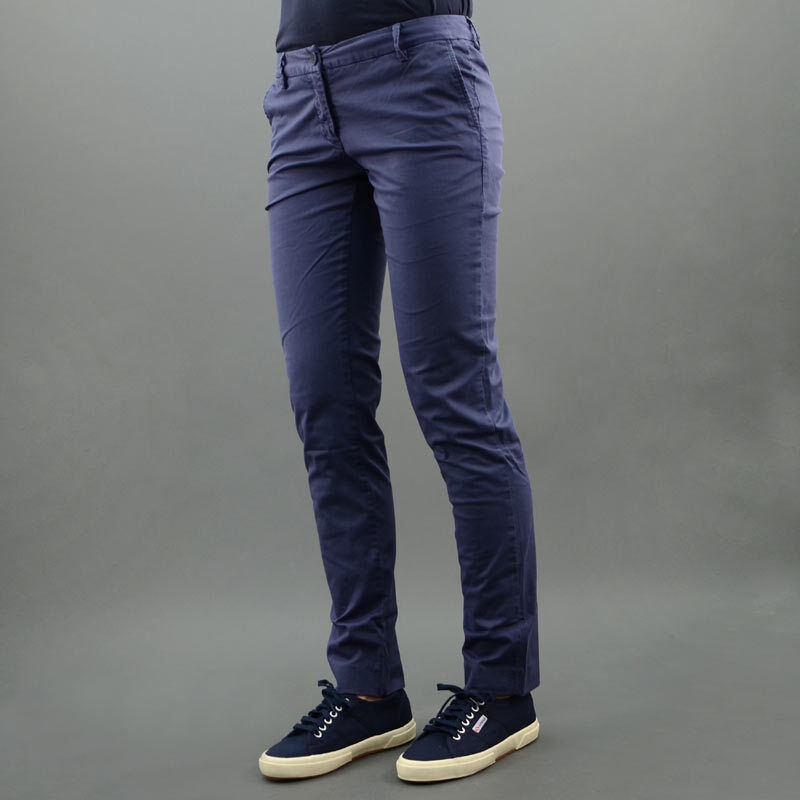 AT.P.CO TROUSERS COTTON CAMELIA bluee mod. 781