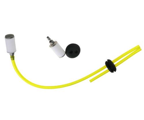 2 Hole Fuel Line Filter Gas Tank Hose Grommet Breather Set Supply For Strimmer