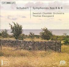 Schubert: Symphonies Nos. 8 & 9 Super Audio Hybrid CD (CD, Feb-2010, BIS...