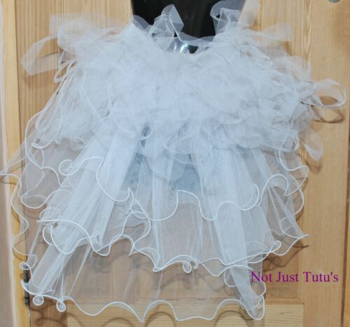 BURLESQUE 4 TAILS WITH WHITE BUSTLE ADULT CHILD UNIQUE CURLY