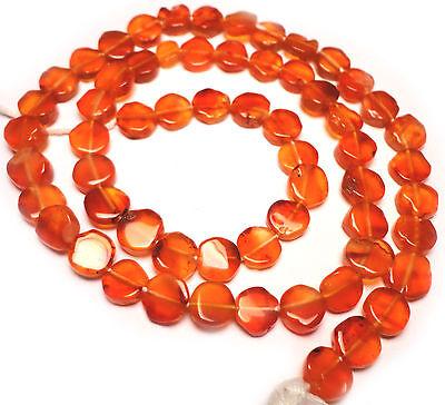 Carnelian Coin Beads