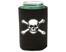 6 Lot Skull and Bones 2 Pirate Beer Soda Pop Can Cozy Koolie Cooler Insulator