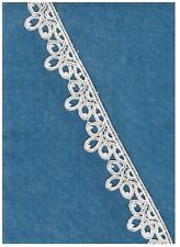 "Magnificent  Venise Lace Bridal Jewelry Choker Trim Rayon 5-1//2/""  #1618w"