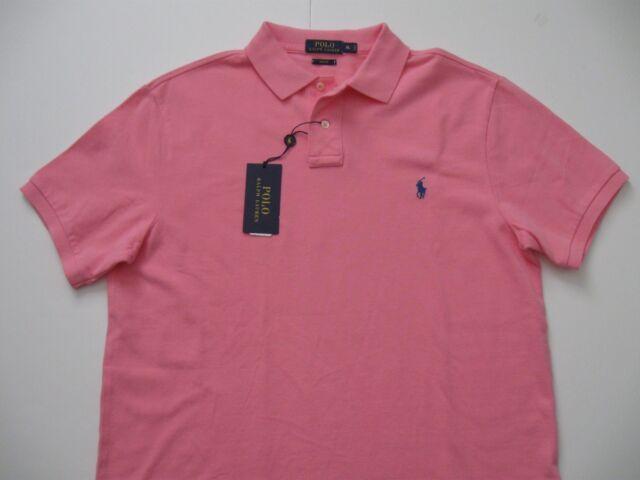 d531d1438c Polo Ralph Lauren Slim-fit Mesh Polo Shirt Pink Mens Size XXL 883862635753