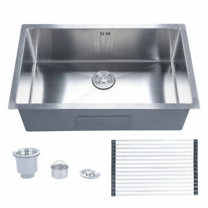Details about Undermount Stainless Steel Kitchen Sink Single Bowl 28\