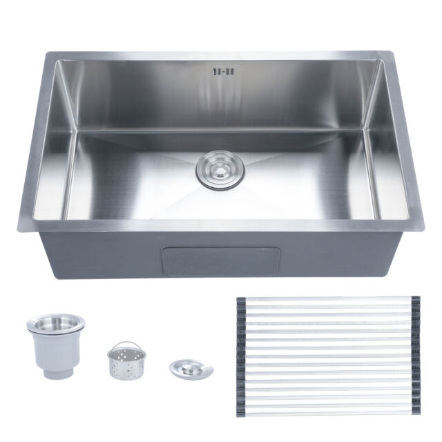 Undermount Stainless Steel Kitchen Sink Single Bowl 28\