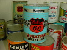 NEAR MINT 1940's Vintage PHILLIPS 66 AVIATION ENGINE MOTOR OIL Old 1 qt. Tin Can