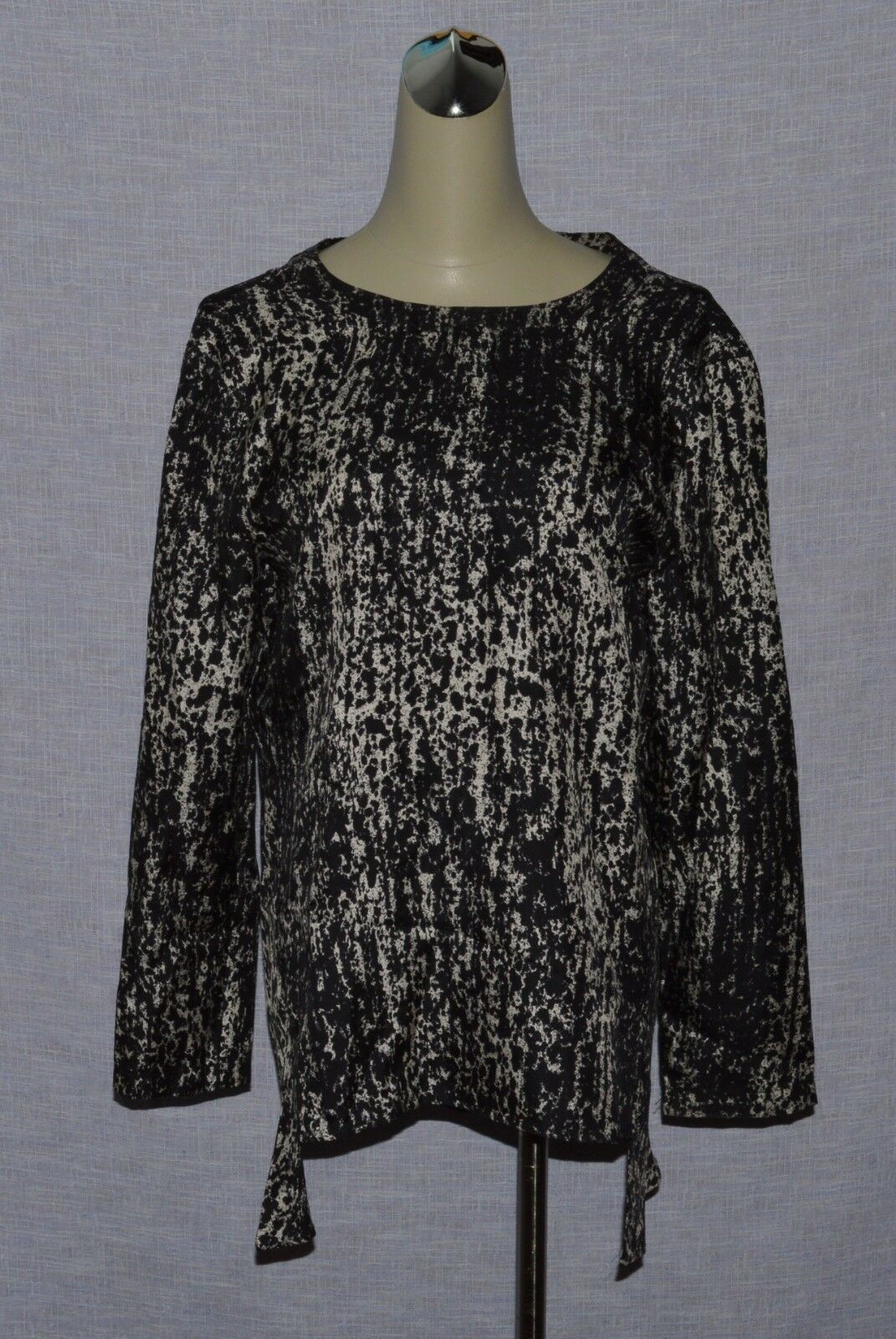 SPORTMAX PURA SETA SZ S SMALL 100% SILK LONG SLEEVE BLOUSE TOP