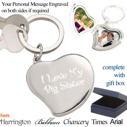 I Love My Big Sister Keyring Gift Heart Locket
