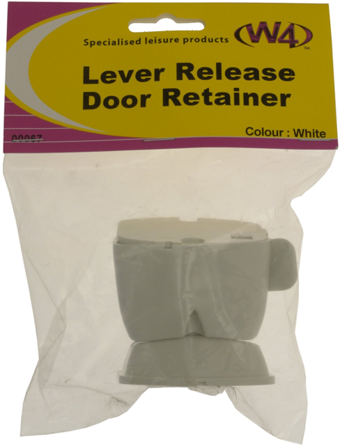White Caravan External Door Lever Release Retainer