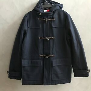 Details about NWT Tommy Hilfiger Men's Wool Blend Hooded Toggle Duffle Coat Jacket $329.99 NEW