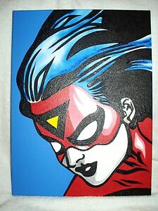 Image Is Loading Canvas Painting Superhero Spider Woman Jessica Drew 16x12