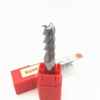 KLOT HRC60 PT Coated Solid Carbide End Mill For Stainless Steel 4mm-12mm 4-Flute