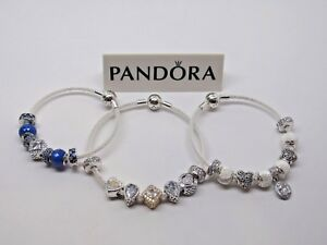 0d54cadcd New 1 Pandora Sterling Silver Mesh Bracelet 596543 CHOOSE SIZE & BOX ...
